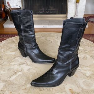 Franco Sarto Western Leather Boots